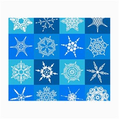 Background Blue Decoration Small Glasses Cloth (2 Side)
