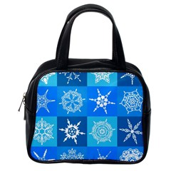 Background Blue Decoration Classic Handbags (one Side) by Nexatart