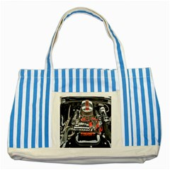 Car Engine Striped Blue Tote Bag by Nexatart