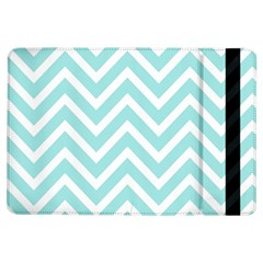 Chevrons Zigzags Pattern Blue Ipad Air Flip by Nexatart