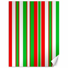 Christmas Holiday Stripes Red Green,white Canvas 18  X 24   by Nexatart