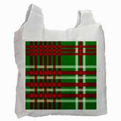 Christmas Colors Red Green White Recycle Bag (one Side) by Nexatart