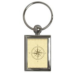 Compass Vintage South West East Key Chains (rectangle)  by Nexatart
