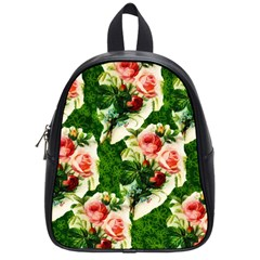 Floral Collage School Bags (small)  by Nexatart