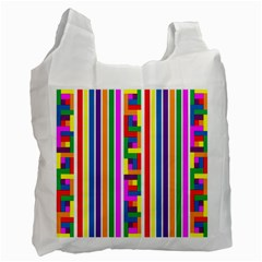 Rainbow Geometric Design Spectrum Recycle Bag (one Side) by Nexatart