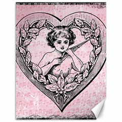 Heart Drawing Angel Vintage Canvas 12  X 16   by Nexatart