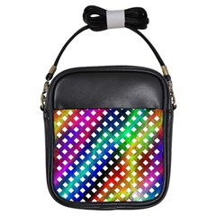 Pattern Template Shiny Girls Sling Bags by Nexatart