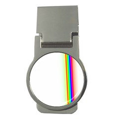 Rainbow Side Background Money Clips (round)  by Nexatart