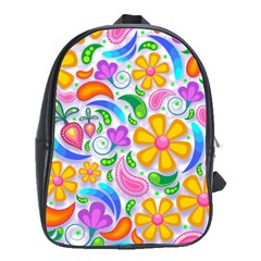 Floral Paisley Background Flower School Bags (xl)  by Nexatart