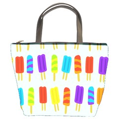 Food Pattern Bucket Bags by Nexatart