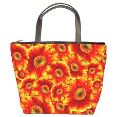 Gerbera Flowers Blossom Bloom Bucket Bags by Nexatart