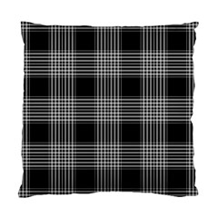 Plaid Checks Background Black Standard Cushion Case (one Side) by Nexatart