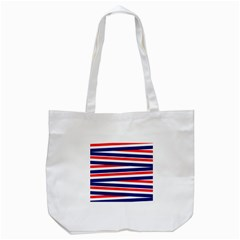 Red White Blue Patriotic Ribbons Tote Bag (white) by Nexatart
