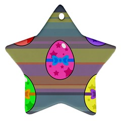 Holidays Occasions Easter Eggs Star Ornament (two Sides) by Nexatart