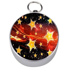 Holiday Space Silver Compasses by Nexatart