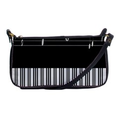 Piano Keyboard With Notes Vector Shoulder Clutch Bags by Nexatart