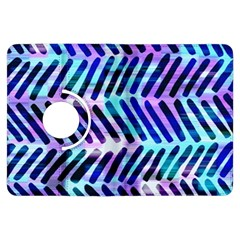 Blue Tribal Chevrons  Kindle Fire HDX Flip 360 Case by KirstenStar