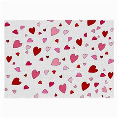 Valentine s Day Hearts Large Glasses Cloth (2 Side) by Valentinaart
