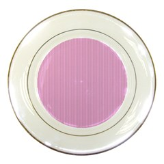 Pink texture Porcelain Plates by Valentinaart
