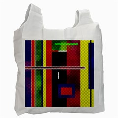 Abstract Art Geometric Background Recycle Bag (two Side)  by Nexatart