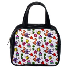 Doodle Pattern Classic Handbags (One Side) by Nexatart