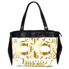 Sugar Skull Bones Calavera Ornate Office Handbags (2 Sides)  by Nexatart