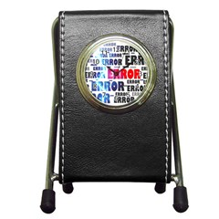 Error Crash Problem Failure Pen Holder Desk Clocks by Nexatart