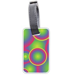 Background Colourful Circles Luggage Tags (one Side)  by Nexatart