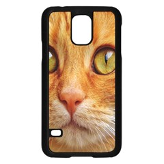 Cat Red Cute Mackerel Tiger Sweet Samsung Galaxy S5 Case (black) by Nexatart
