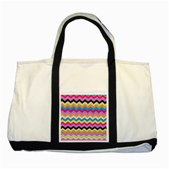 Chevrons Pattern Art Background Two Tone Tote Bag by Nexatart