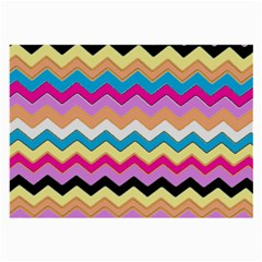 Chevrons Pattern Art Background Large Glasses Cloth (2 Side) by Nexatart