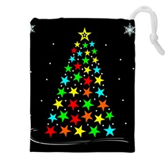Christmas Time Drawstring Pouches (XXL) by Nexatart