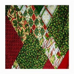 Christmas Quilt Background Medium Glasses Cloth by Nexatart