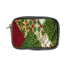 Christmas Quilt Background Coin Purse by Nexatart