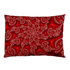 Fractal Art Elegant Red Pillow Case (Two Sides)
