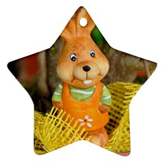 Easter Hare Easter Bunny Ornament (star) by Nexatart