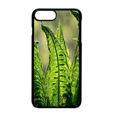 Fern Ferns Green Nature Foliage Apple iPhone 7 Plus Seamless Case (Black) by Nexatart