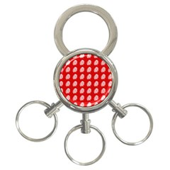 Happy Chinese New Year Pattern 3 Ring Key Chains by dflcprints