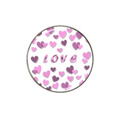 Love Valentine S Day 3d Fabric Hat Clip Ball Marker (4 Pack) by Nexatart
