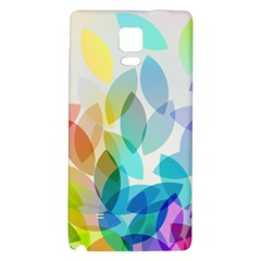 Leaf Rainbow Color Galaxy Note 4 Back Case by Jojostore