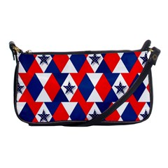 Patriotic Red White Blue 3d Stars Shoulder Clutch Bags