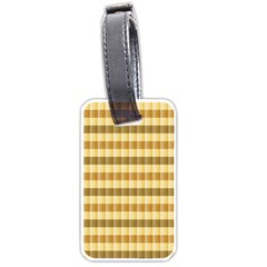 Pattern Grid Squares Texture Luggage Tags (one Side)  by Nexatart