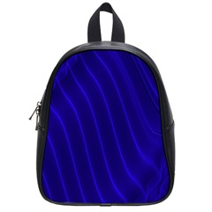 Sparkly Design Blue Wave Abstract School Bags (small)  by Jojostore