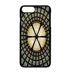 Stained Glass Colorful Glass Apple iPhone 7 Plus Seamless Case (Black) by Nexatart