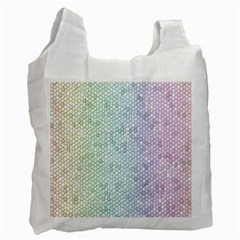 The Background Wallpaper Mosaic Recycle Bag (one Side) by Nexatart