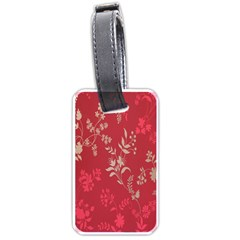 Leaf Flower Red Luggage Tags (two Sides) by Jojostore