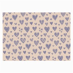 Heart Love Valentine Pink Blue Large Glasses Cloth (2 Side) by Jojostore
