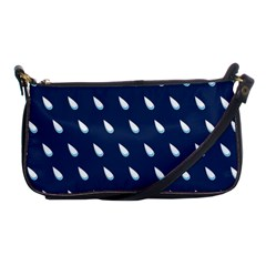 Another Rain Day Water Blue Shoulder Clutch Bags by Jojostore
