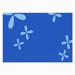 Flower Floral Blue Large Glasses Cloth (2 Side) by Jojostore