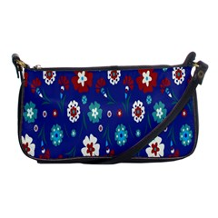 Flower Floral Flowering Leaf Blue Red Green Shoulder Clutch Bags by Jojostore
